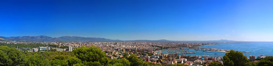 Panoramic view of Palma